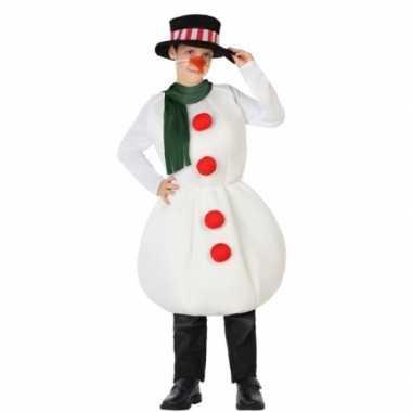 Sneeuwpop verkleedkleren voor kinderen