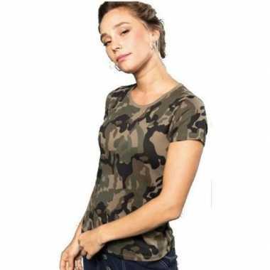 Soldaten / leger verkleedkleren camouflage shirt dames