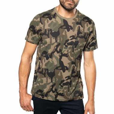 Soldaten / leger verkleedkleren camouflage shirt heren