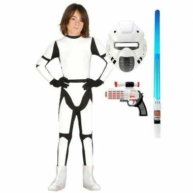 Space trooper verkleedkleren maat 140 152 voor kinderen