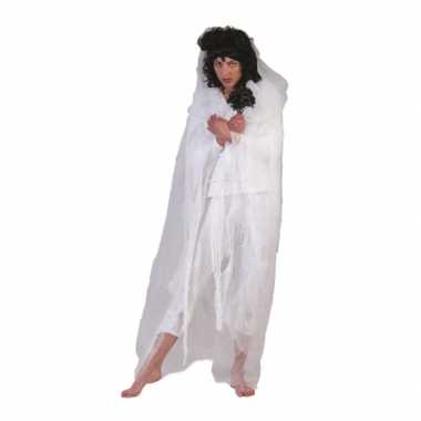 Spook verkleedkleren cape wit