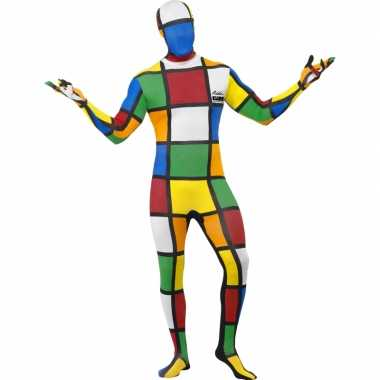 Strak rubiks kubus verkleedkleren