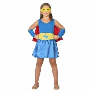 Supergirl jurk/jurkje verkleedkleren voor meisjes