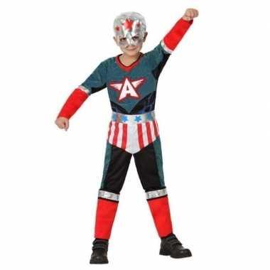 Superheld kapitein amerika pak/verkleedkleren voor jongens