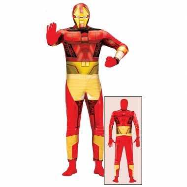 Superheld metalen man verkleedkleren voor volwassenen