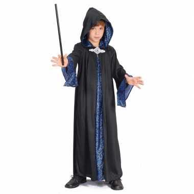 Tovenaar kinder verkleedkleren zwart/blauw