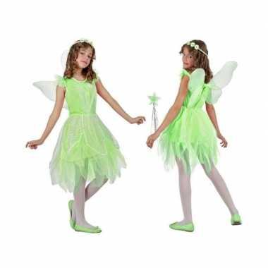 Toverfee/elfje flora verkleedkleren/jurkje voor meisjes groen