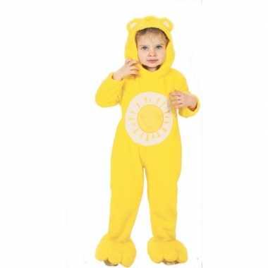 Troetelberen verkleedkleren geel voor kinderen