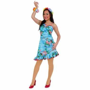 Tropische verkleedkleren hawaii jurkje