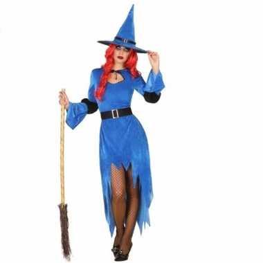 Verkleedkleren blauwe heks