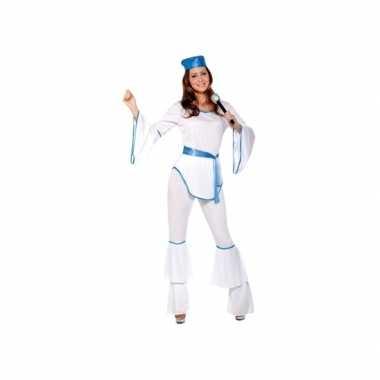 Verkleedkleren disco wit voor dames