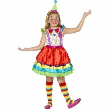 Verkleedkleren gekleurd clown jurkje