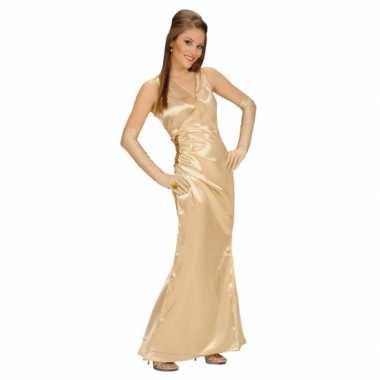 Verkleedkleren gouden jurk voor dames