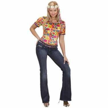 Verkleedkleren hippie shirt dames