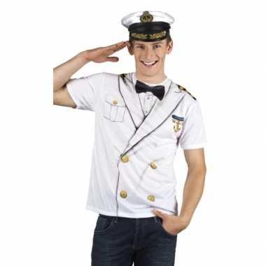 Verkleedkleren kapitein heren shirt