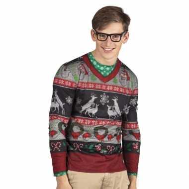 Verkleedkleren kerst heren shirt