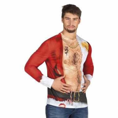 Verkleedkleren kerstman heren shirt