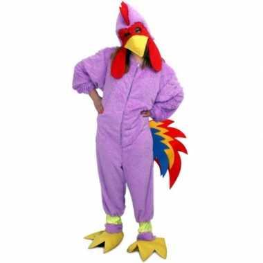 Verkleedkleren paarse kip