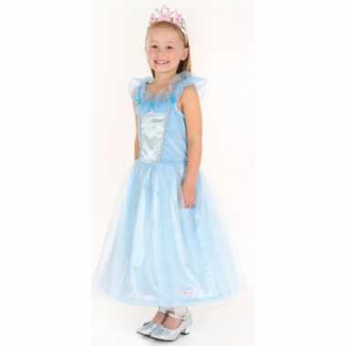 Verkleedkleren prinses blauw meisjes