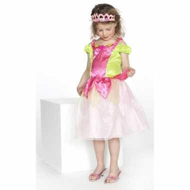 Verkleedkleren prinses roze/groen meisjes