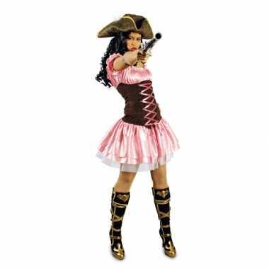 Verkleedkleren roze piratenjurkje