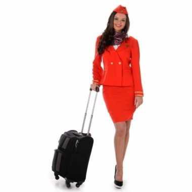Verkleedkleren stewardess rood
