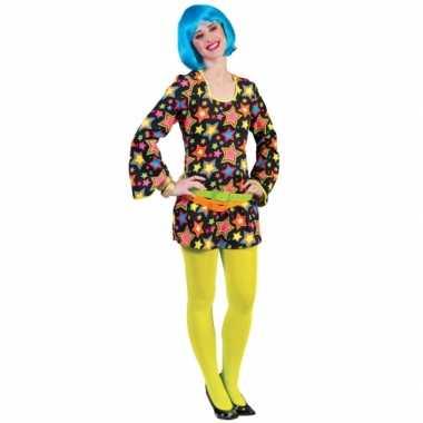 Verkleedkleren voor felgekleurde disco jurk