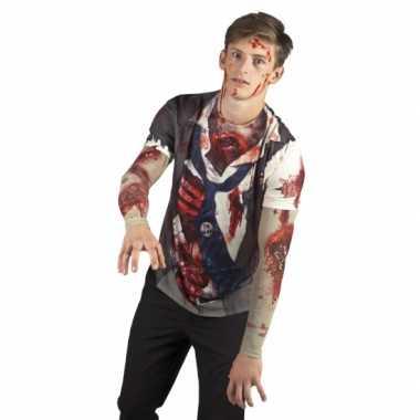 Verkleedkleren zombie man shirt