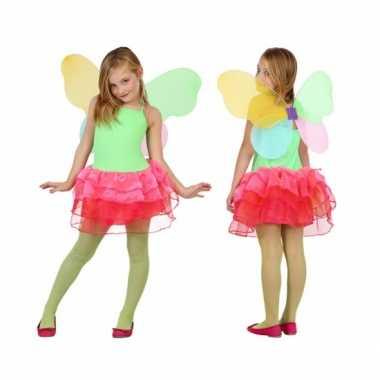 Vlinder verkleedkleren voor kids groen/rood