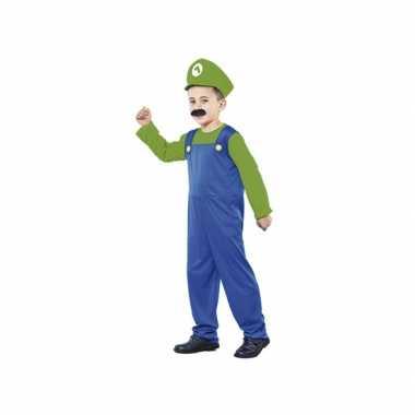 Voordelig groen loodgieter verkleedkleren voor jongens