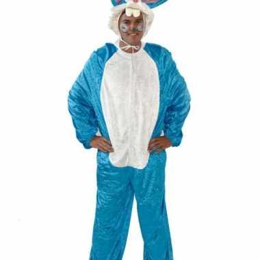 Vrijgezellenfeest verkleedkleren blauw konijn