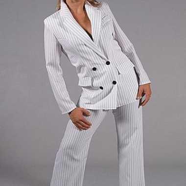Vrouwen gangster verkleedkleren wit