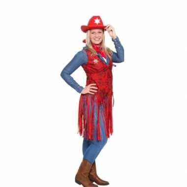 Western rood cowgirl verkleedkleren voor dames
