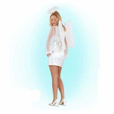 Wit engelen verkleedkleren voor vrouwen