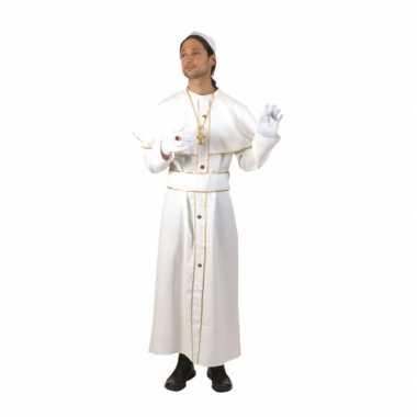 Wit feest verkleedkleren kardinaal