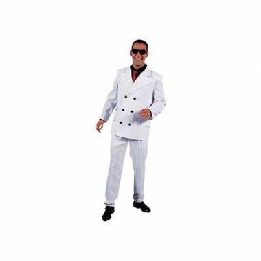 Wit gangster verkleedkleren voor heren