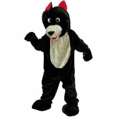 Wolf verkleedkleren van pluche