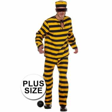 Xl inbreker verkleedkleren zwart/geel voor heren