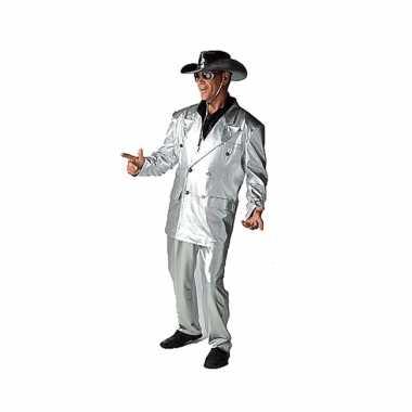 Zilveren bling verkleedkleren voor heren