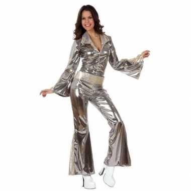 Zilveren dames disco pakjes verkleedkleren