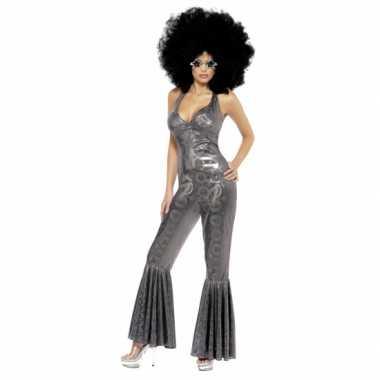 Zilveren glitter verkleedkleren voor dames