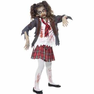 Zombie schoolmeisje verkleedkleren voor meisjes