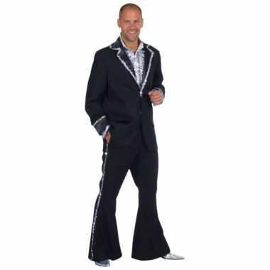 Zwart bling bling verkleedkleren heren