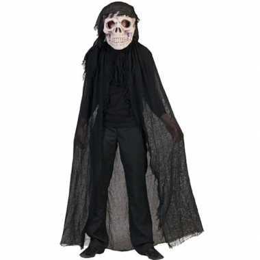 Zwart doodshoofd spook verkleedkleren
