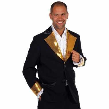 Zwart / goud glitter verkleedkleren heren