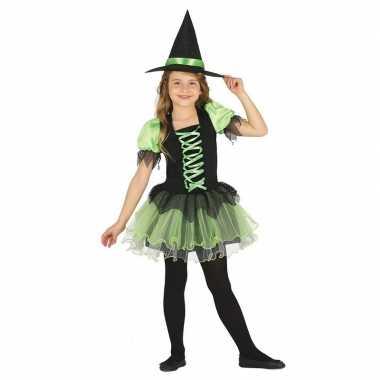 Zwart/groen heksen verkleedkleren voor meisjes