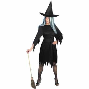 Zwart heksenverkleedkleren dames