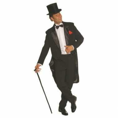Zwart heren verkleedkleren broek en jas
