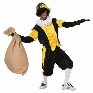 Zwart met geel pieten verkleedkleren