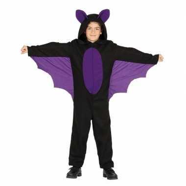Zwart met paars vleermuis verkleedkleren voor jongens